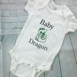 Baby Green 🐉 Dragon Onesie